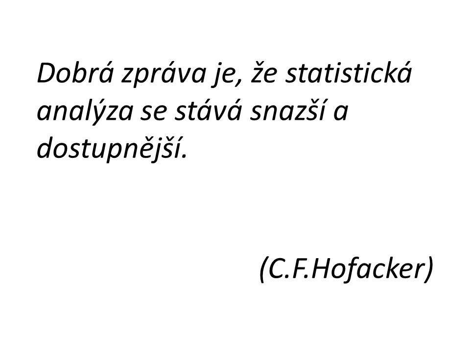 Dobrá zpráva je, že statistická analýza se stává snazší a dostupnější.
