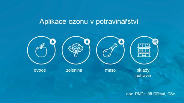 Aplikace ozonu v potravinářství doc. RNDr. Jiří Dřímal, CSc. zeleninamasosklady potravin ovoce