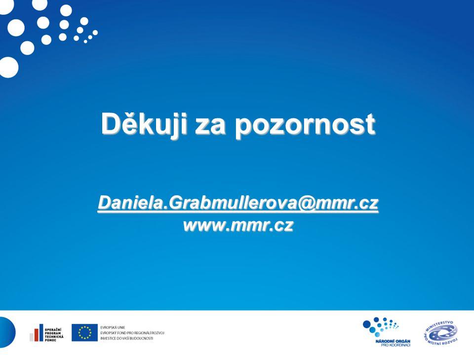 11 Děkuji za pozornost Daniela.Grabmullerova@mmr.cz www.mmr.cz