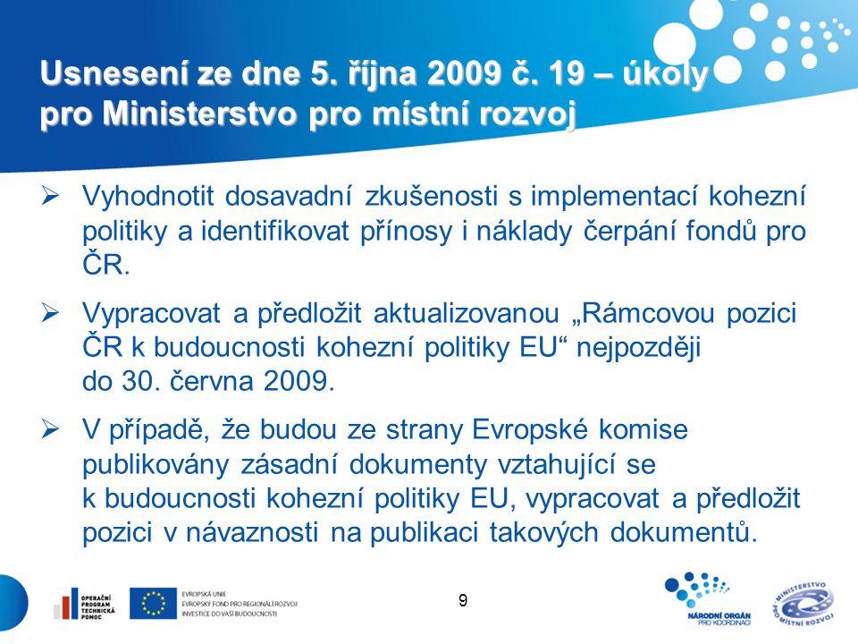 9 Usnesení ze dne 5. října 2009 č.
