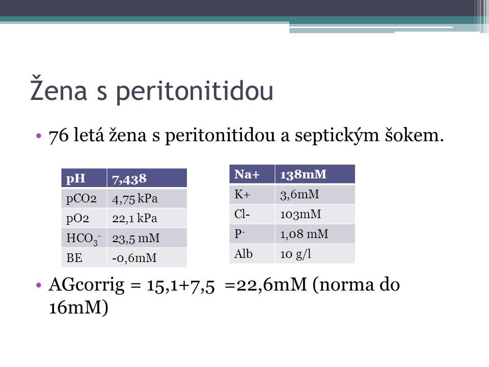 Žena s peritonitidou 76 letá žena s peritonitidou a septickým šokem.
