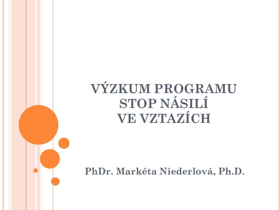 VÝZKUM PROGRAMU STOP NÁSILÍ VE VZTAZÍCH PhDr. Markéta Niederlová, Ph.D.