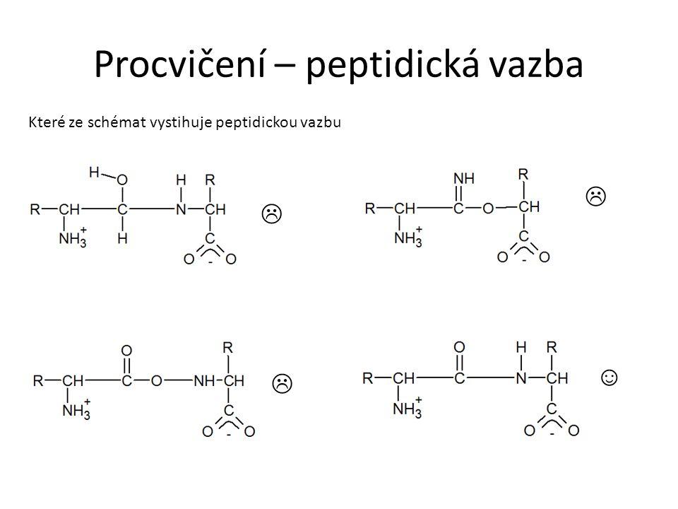 Procvičení – peptidická vazba Které ze schémat vystihuje peptidickou vazbu    ☺