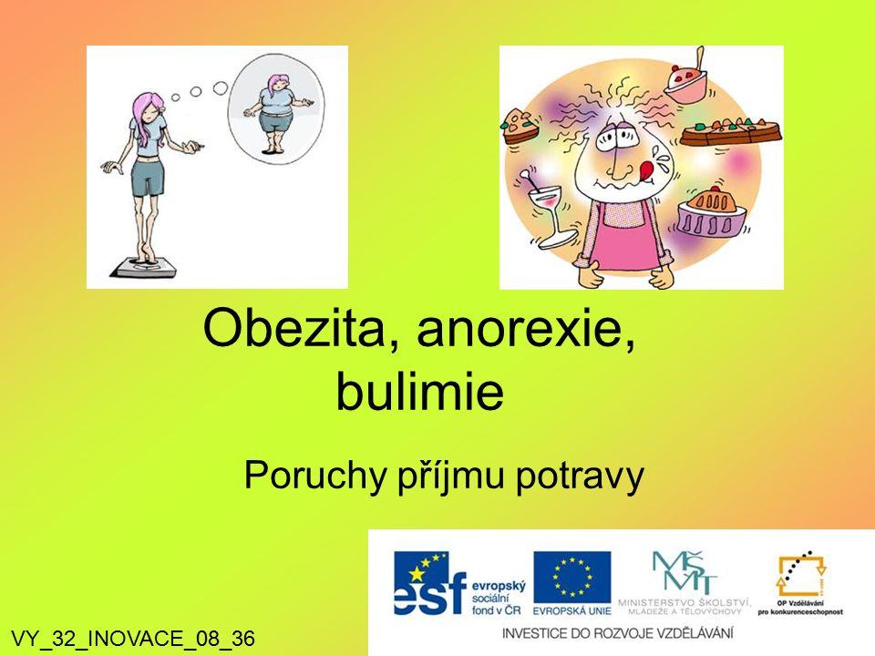 Poruchy příjmu potravy Obezita, anorexie, bulimie VY_32_INOVACE_08_36