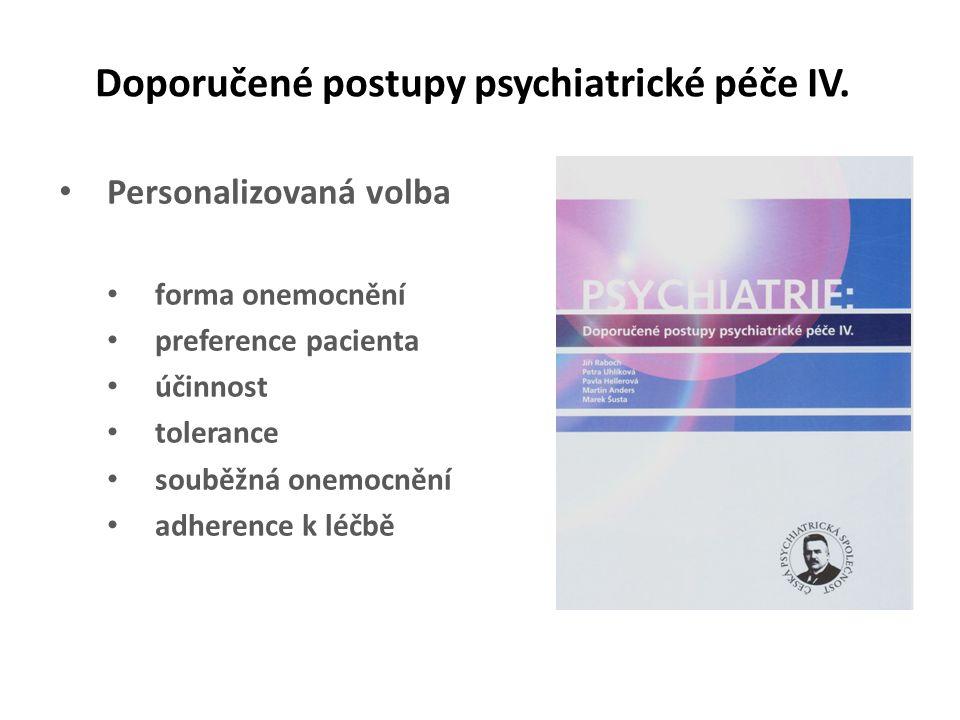 Doporučené postupy psychiatrické péče IV.