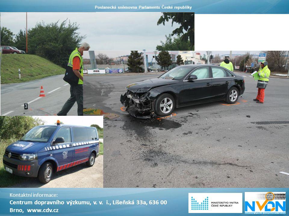 V období 2011 – květen 2015 bylo šetřeno více jak 800 dopravních nehod. Kontaktní informace: Centrum dopravního výzkumu, v. v. i., Líšeňská 33a, 636 0