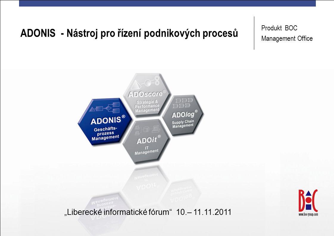 """ADONIS - Nástroj pro řízení podnikových procesů Produkt BOC Management Office """"Liberecké informatické fórum 10.– 11.11.2011"""