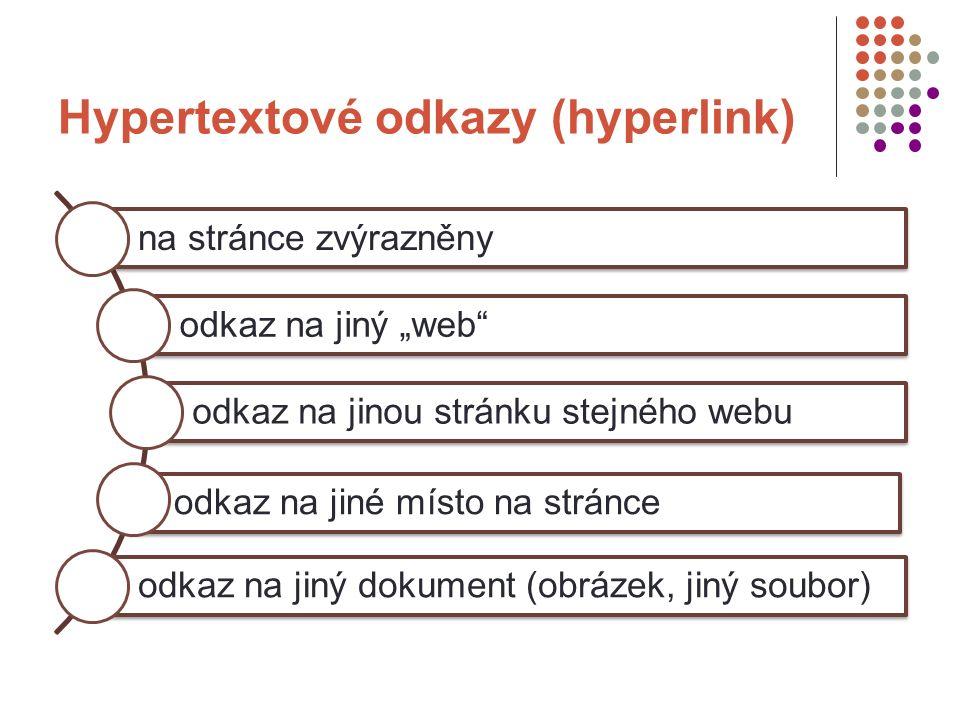 """Co je to hypertext """"hype – znamená """"něco více je to tedy více než textový dokument obsahuje hypertextové odkazy (links) čtou se elektronicky pomocí speciálních programů"""