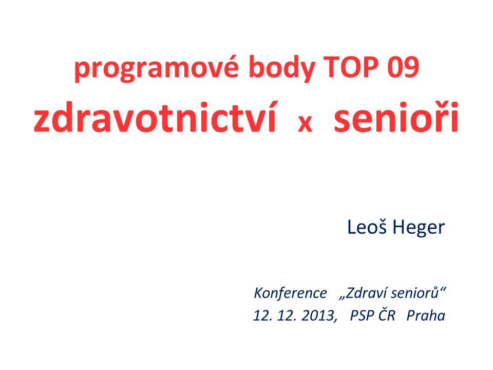 """Leoš Heger Konference """"Zdraví seniorů 12. 12."""