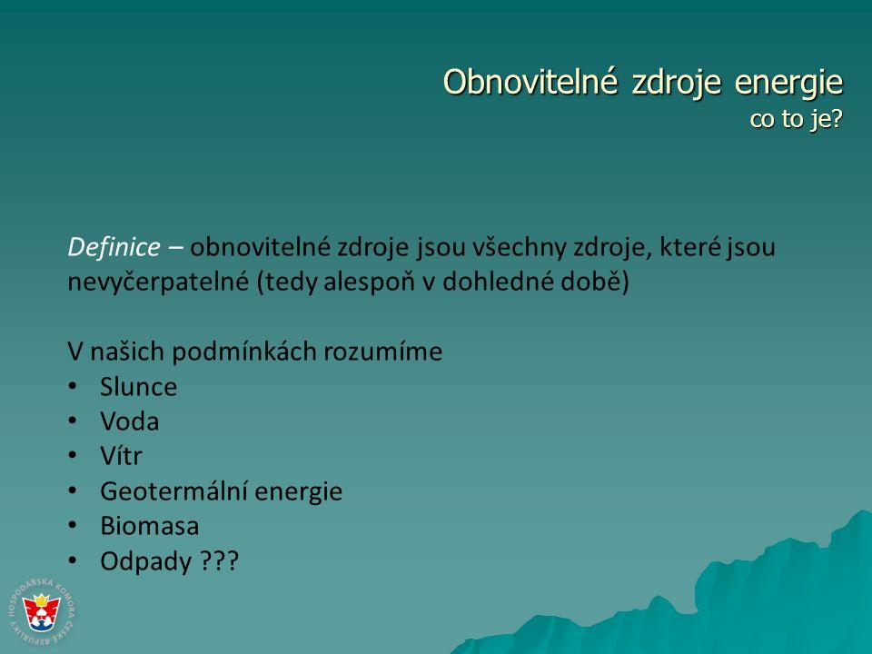 Obnovitelné zdroje energie srovnání s primárními zdroji Primární zdroje – zdroje energie, jejichž zásoby se v dohledné době vyčerpají V našich podmínkách rozumíme Uhlí (černé, hnědé, lignit,...) Uran (a ostatní prvky, mající schopnost štěpné reakce) Ropa Zemní plyn Ostatní...