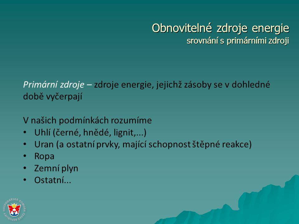 Obnovitelné zdroje energie srovnání – výroba elektrické energie Roční zpráva o provozu ES ČR, ERU 2010o