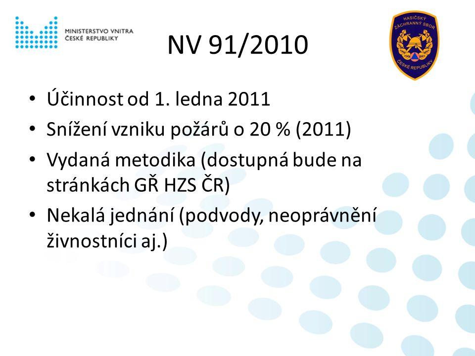 NV 91/2010 Účinnost od 1.