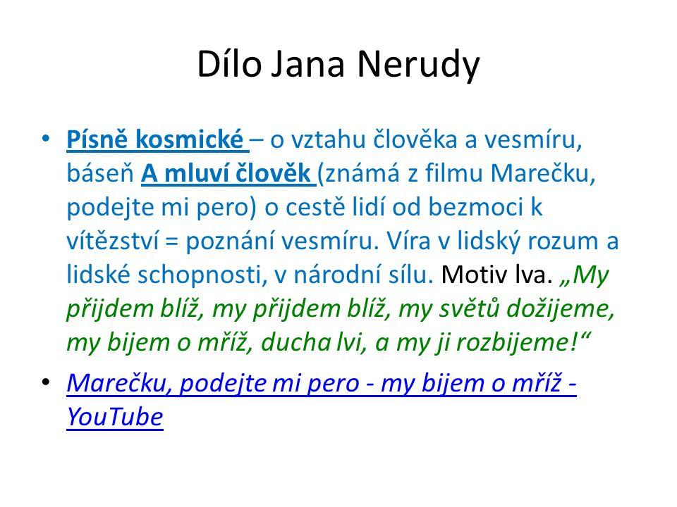 Dílo Jana Nerudy Balady a romance – náměty: biblické – např.