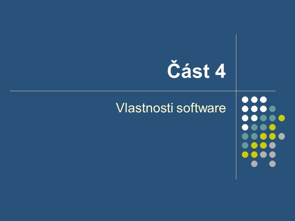 Část 4 Vlastnosti software