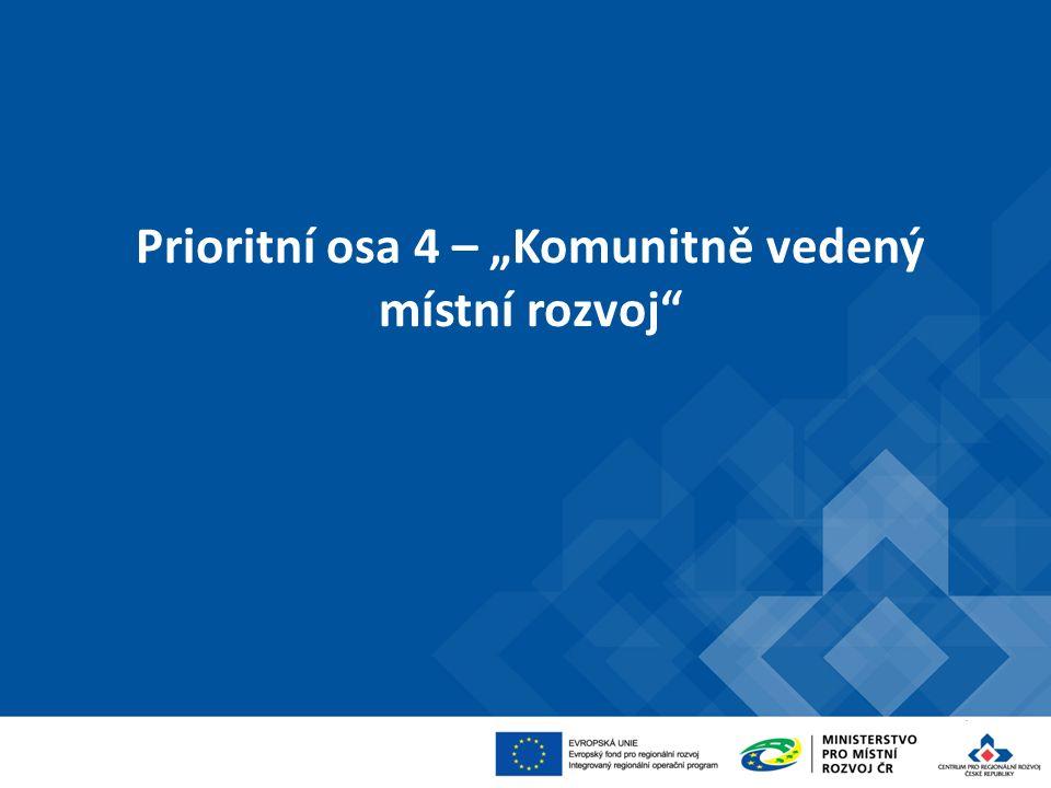 """Prioritní osa 4 – """"Komunitně vedený místní rozvoj"""""""