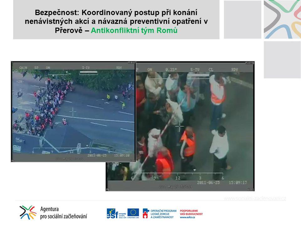 A Bezpečnost: Koordinovaný postup při konání nenávistných akcí a návazná preventivní opatření v Přerově – Antikonfliktní tým Romů