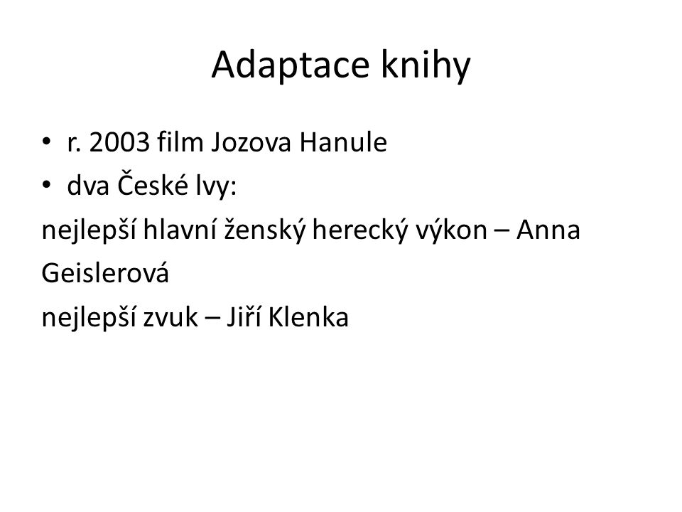 Adaptace knihy r.