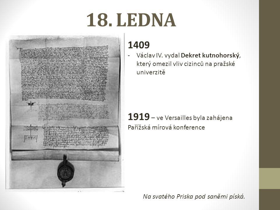 18. LEDNA 1409 -Václav IV.