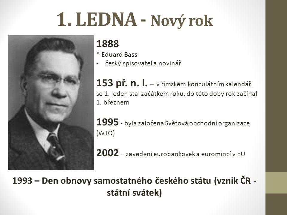1. LEDNA - Nový rok 1888 * Eduard Bass -český spisovatel a novinář 153 př.