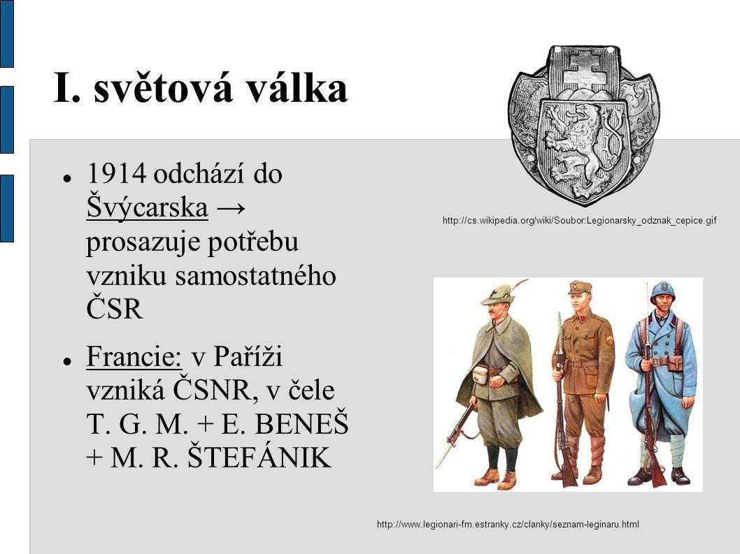 Legie ČSNR organizuje československé legie v zahraničí T.