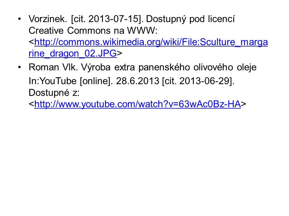 Vorzinek. [cit. 2013-07-15].