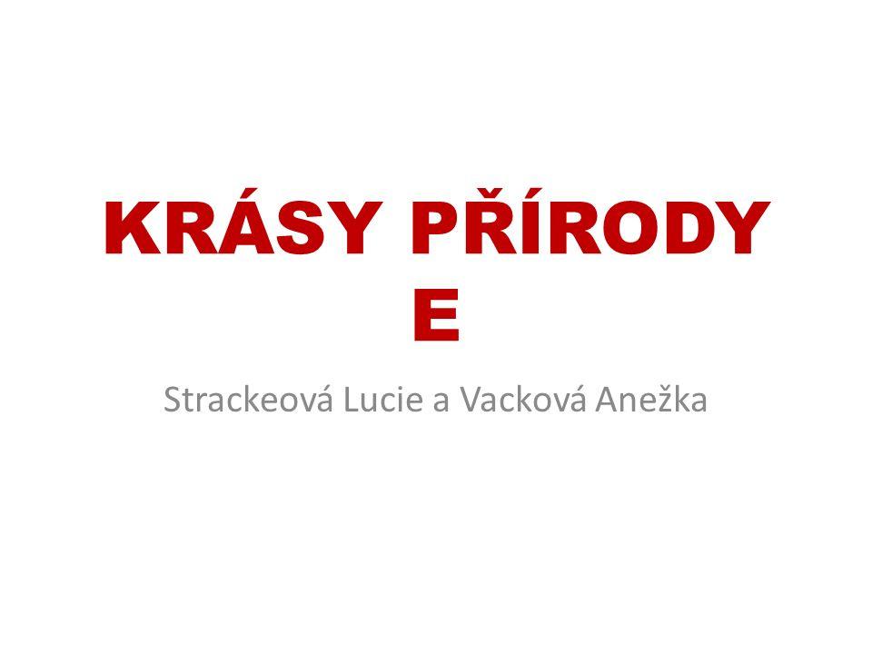 KRÁSY PŘÍRODY E Strackeová Lucie a Vacková Anežka
