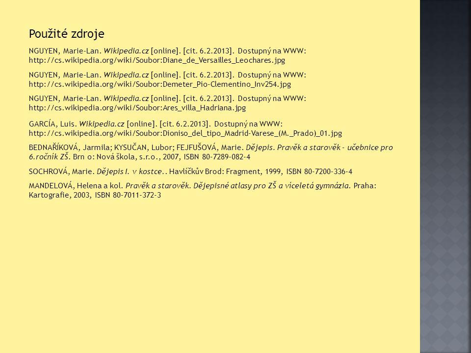 Použité zdroje NGUYEN, Marie-Lan. Wikipedia.cz [online].