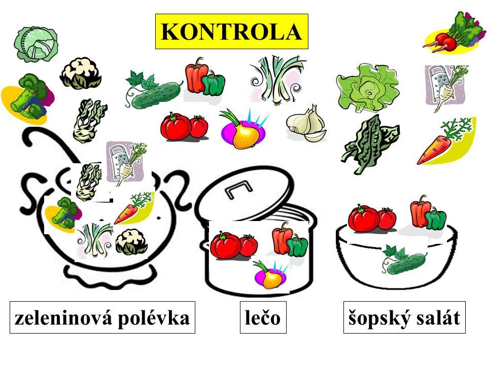 KONTROLA zeleninová polévkalečošopský salát