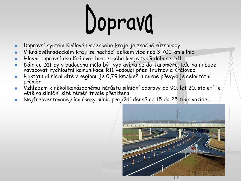 Dopravní systém Královéhradeckého kraje je značně různorodý.