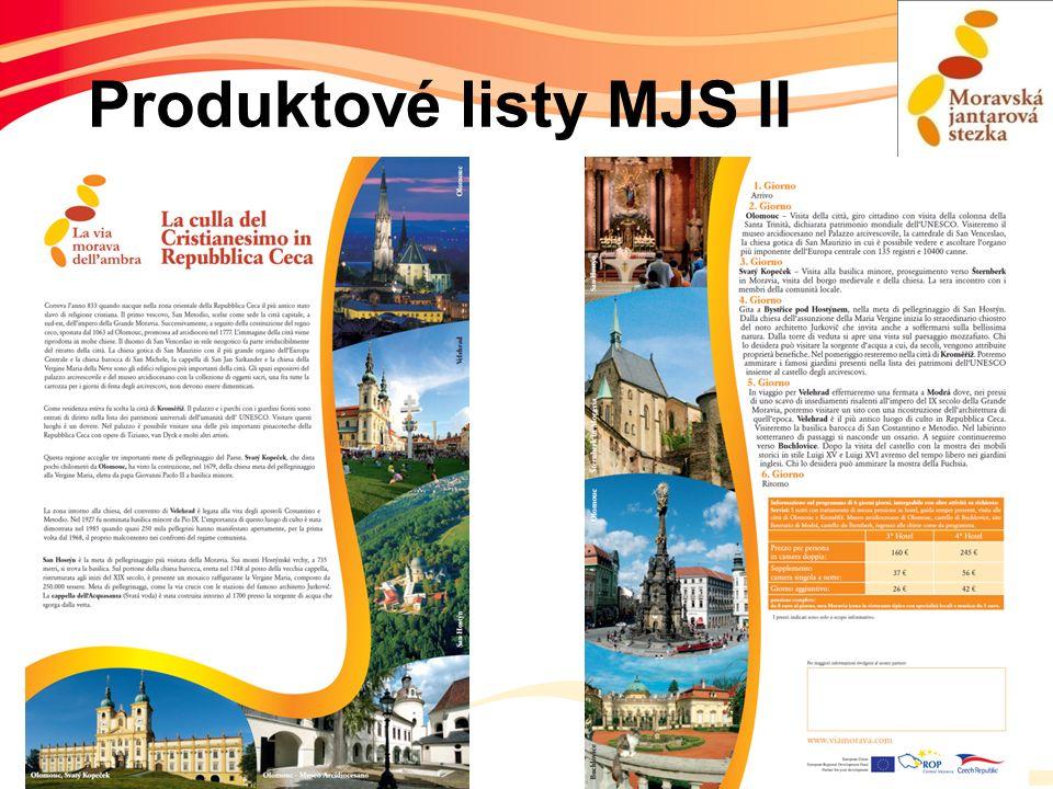 Produktové listy MJS II