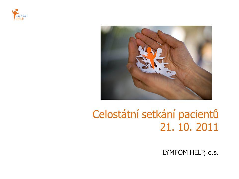 Celostátní setkání pacientů 21. 10. 2011 LYMFOM HELP, o.s.