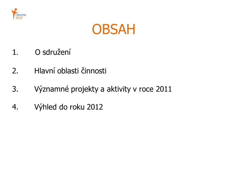 OBSAH 1. O sdružení 2. Hlavní oblasti činnosti 3. Významné projekty a aktivity v roce 2011 4. Výhled do roku 2012