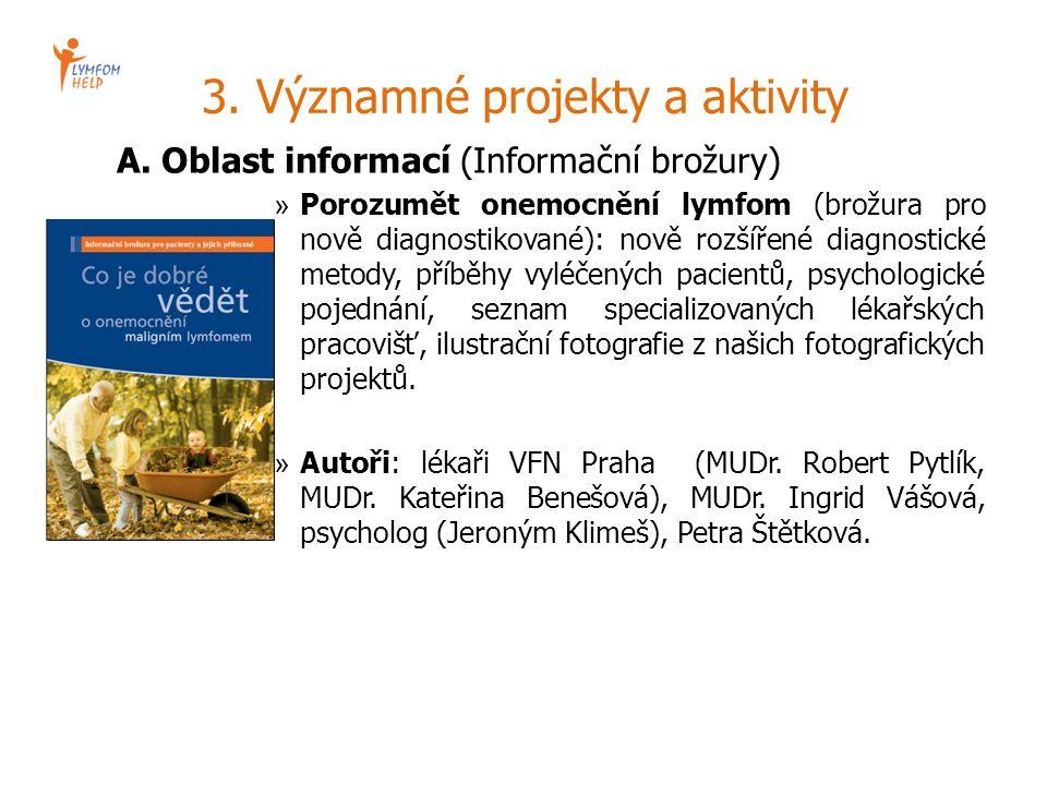 3. Významné projekty a aktivity A. Oblast informací (Informační brožury) » Porozumět onemocnění lymfom (brožura pro nově diagnostikované): nově rozšíř