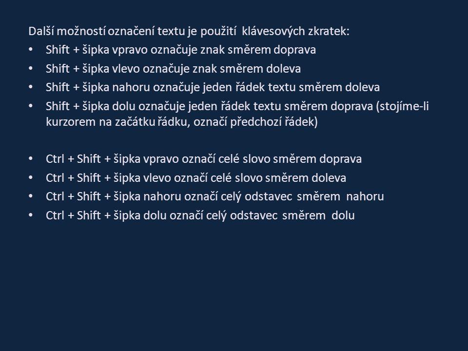 """Formátování odstavce Menu """"Domů část """"odstavec , některé volby: Odrážky Číslování Víceúrovňový seznam Řádkování odstavce Umožní zarovnat text vlevo, na střed, vpravo, do bloku"""