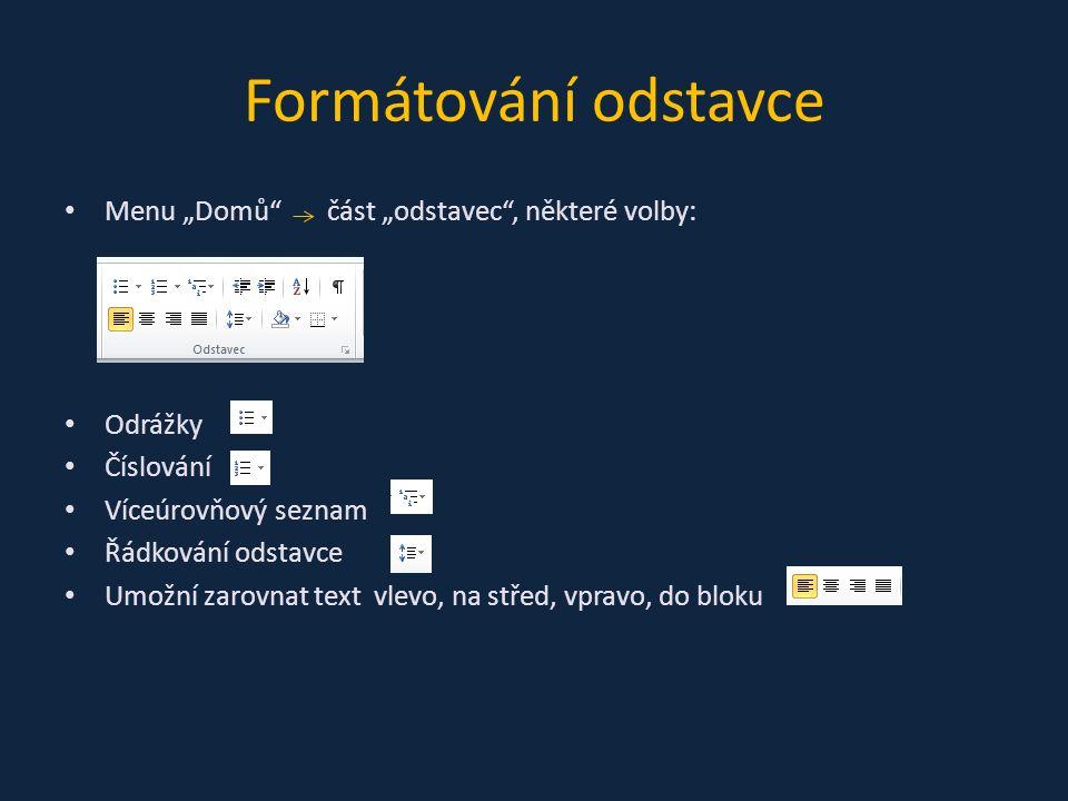 """Nyní budeme pracovat s vytvořeným souborem Zformátujte Váš text následovně: 1)První odstavec zarovnat """"do bloku 2)Druhý zarovnejte """"na střed 3)Třetí zarovnejte """"vpravo Při formátování odstavce není třeba jej celý označit, stačí na libovolné místo odstavce přesunout kurzor myši a formátovat"""