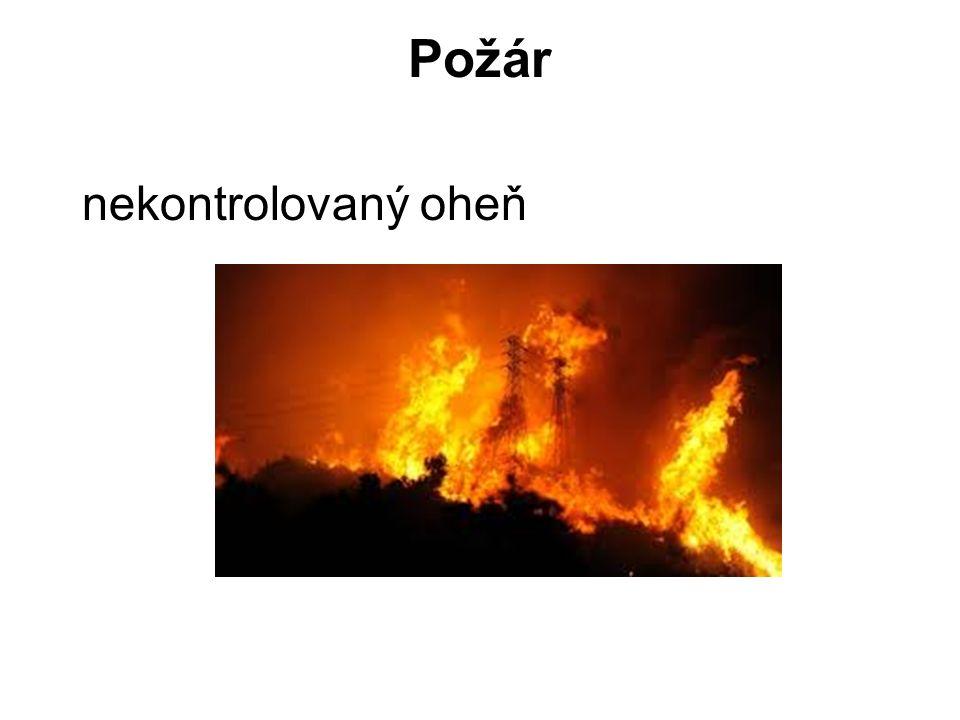 Požár nekontrolovaný oheň