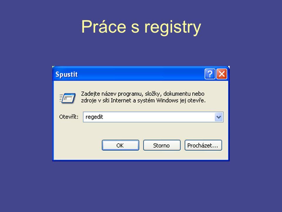 Práce s registry