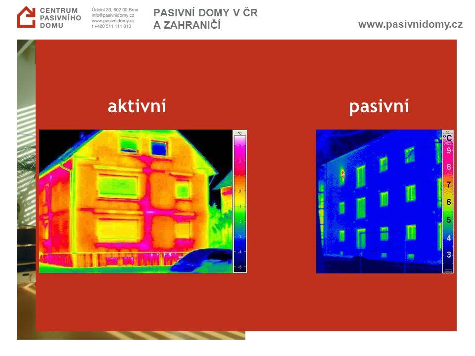 www.pasivnidomy.cz aktivní pasivní PASIVNÍ DOMY V ČR A ZAHRANIČÍ