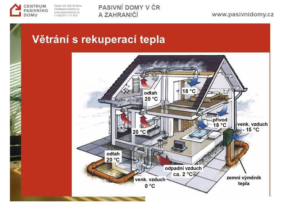 www.pasivnidomy.cz PASIVNÍ DOMY V ČR A ZAHRANIČÍ Větrání s rekuperací tepla
