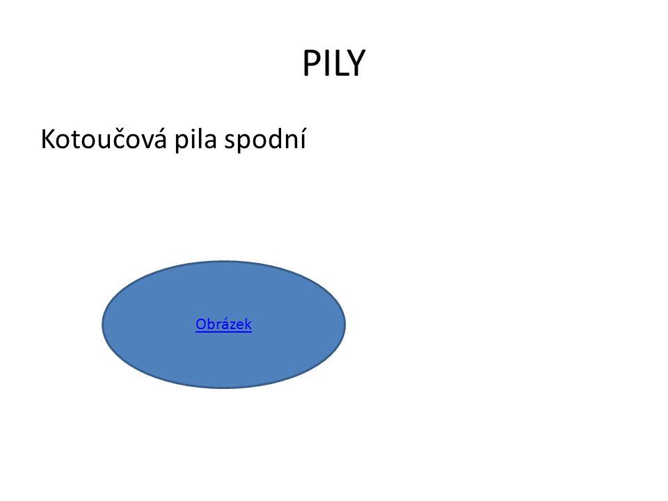 PILY Kotoučová pila spodní Obrázek