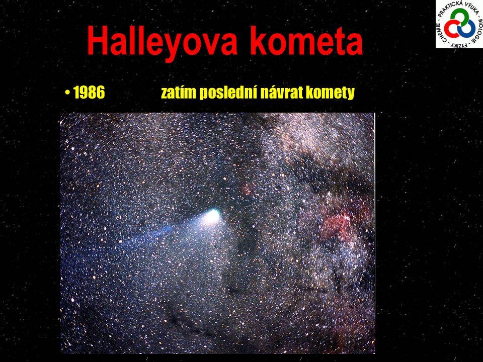 Halleyova kometa 1986zatím poslední návrat komety