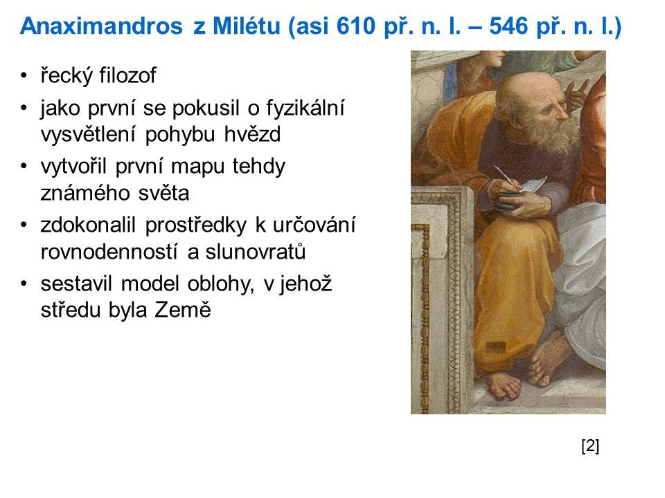 Anaximandros z Milétu (asi 610 př. n. l. – 546 př.