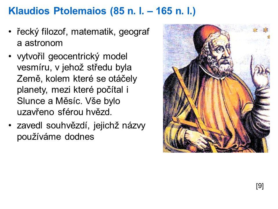 Ptolemaiův geocentrický model vesmíru [10]