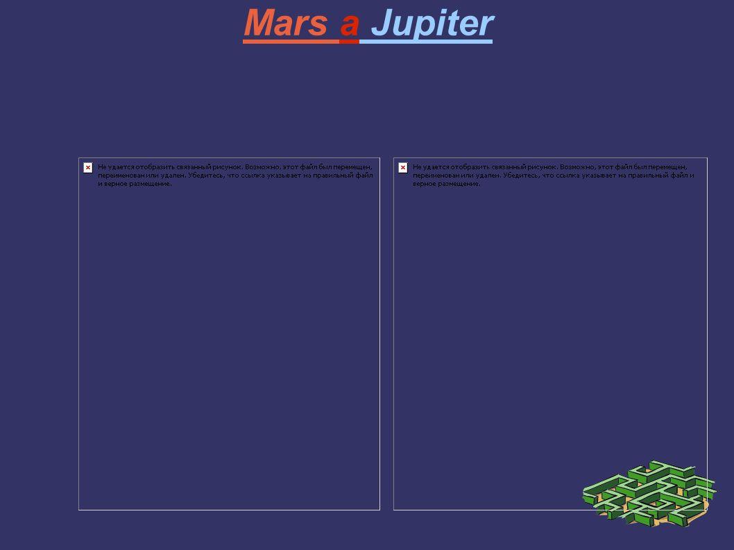 Mars a Jupiter