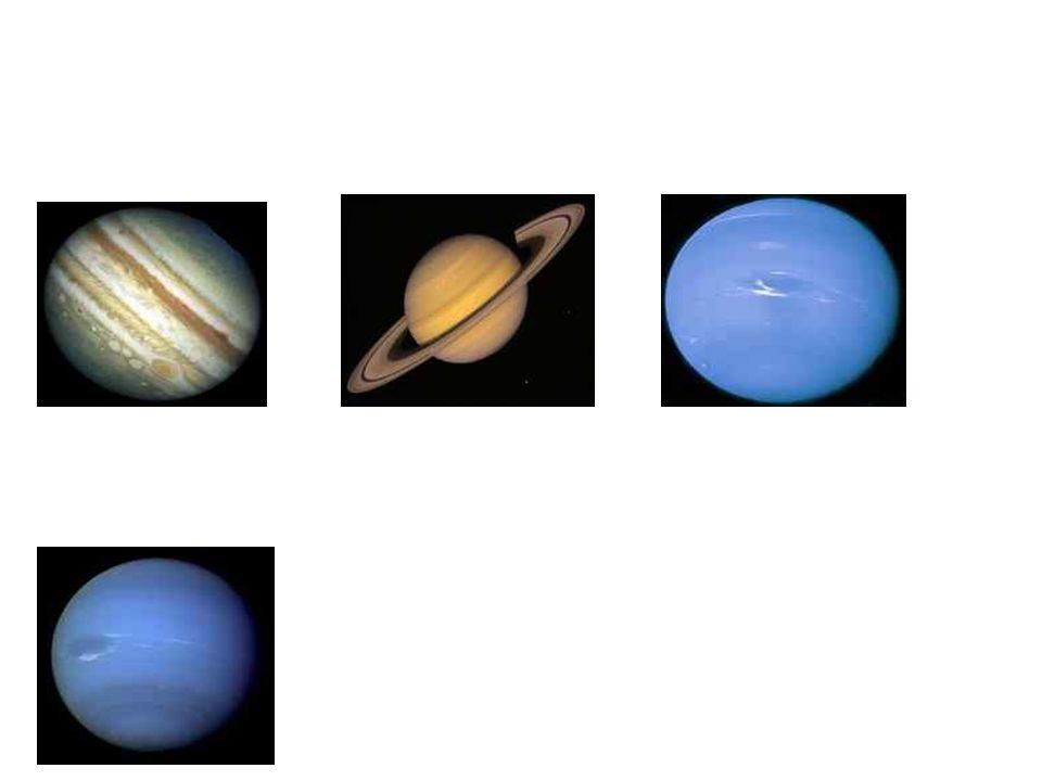 Planety dále od Slunce: 5. Jupiter 6. Saturn 7. Uran 8. Neptun