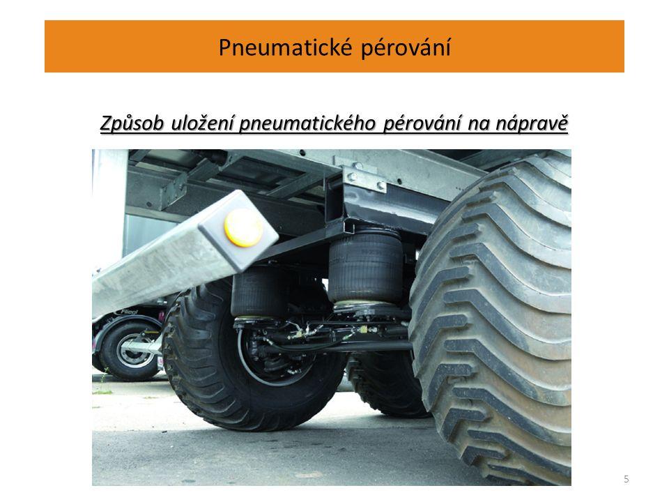 Pneumatické pérování 5 Způsob uložení pneumatického pérování na nápravě