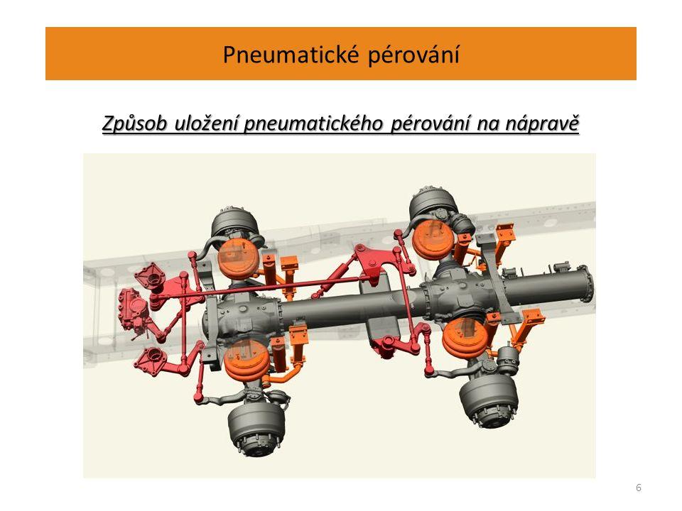 Pneumatické pérování Způsob uložení pneumatického pérování na nápravě 6