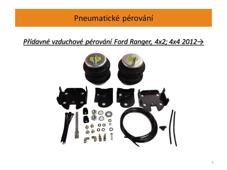 Pneumatické pérování Přídavné vzduchové pérování Ford Ranger, 4x2; 4x4 2012→ 9