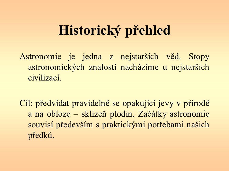 Historický přehled Astronomie je jedna z nejstarších věd.
