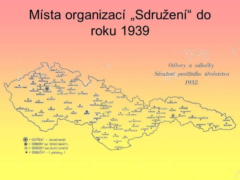 Sdružení peněžního úřednictva po vzniku Československa Počty členů : r.1917 - 2000 členů r.1919 – 10 000 členů Stávka za vyšší platy a lepší postavení úřednictva 1919 Po pětidenní vítězné stávce v roce 1919 prudce vzrostla členská základna až na 10.000 členů !!!